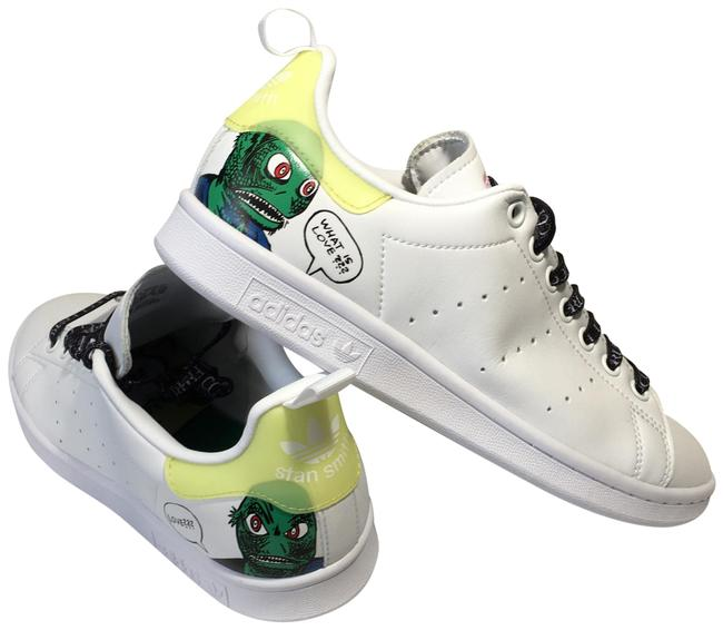 Item - White Green Fiorucci Special Edition 'love' Sneakers Size US 8 Regular (M, B)
