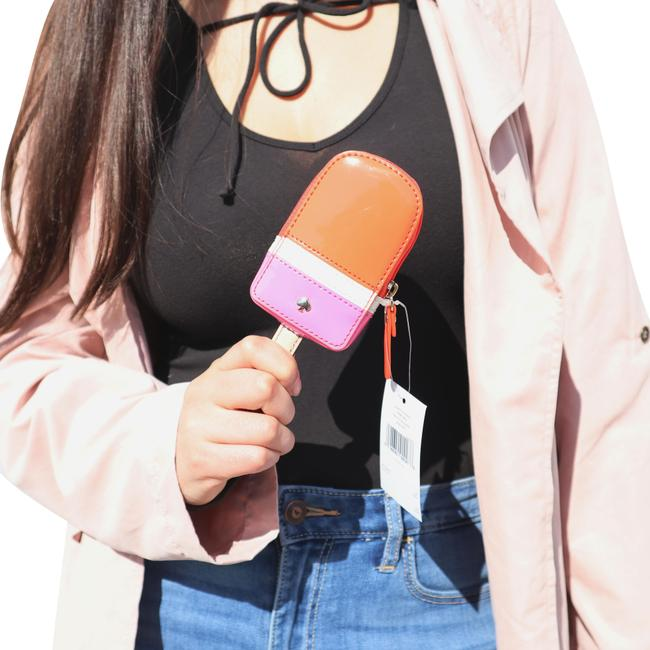 Item - Pink/Orange Flavor Of The Month Popsicle Coin Purse Wallet