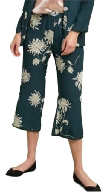 Item - Green White Capulet Chrysanthemum Floral Print Pants Size 2 (XS, 26)