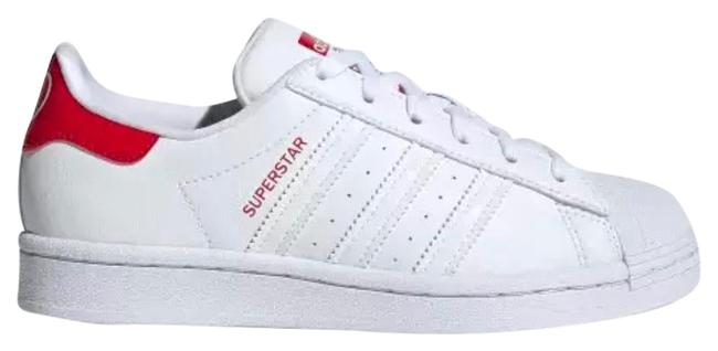 """Item - White Red Superstar """"heart"""" Sneakers Size US 8.5 Regular (M, B)"""