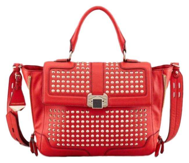 Item - Elle Mini Studded Red Leather Satchel