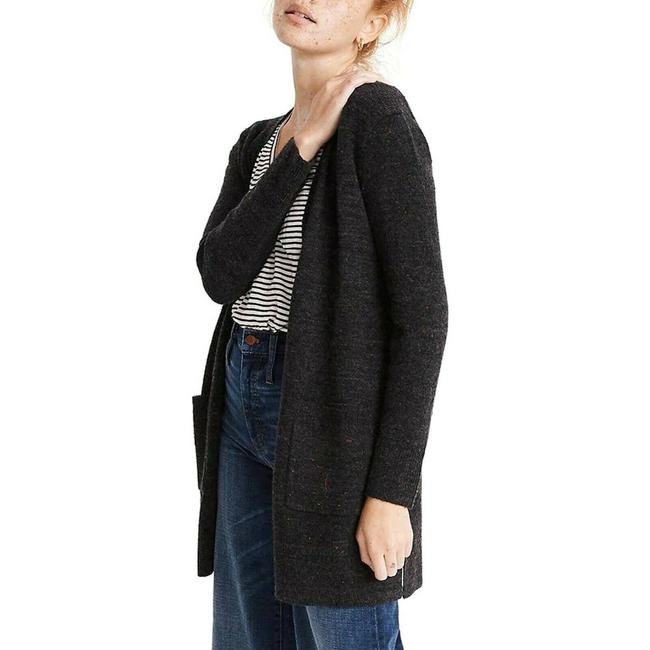 Item - New Small Donegal Kent Cardigan Open Front Pockets Grey Sweater
