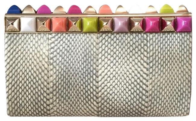 Item - Candy Rare Studded Cayla Multi Color Python Clutch