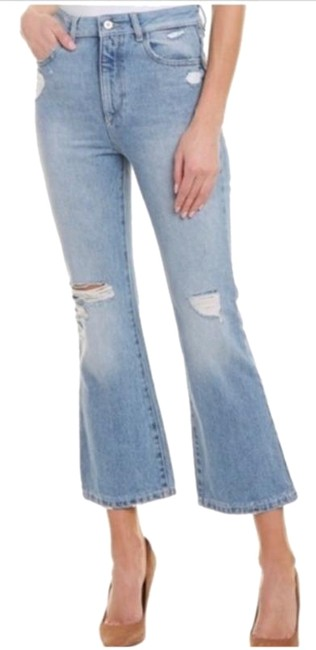 DL1961 Blue Distressed Wallace High Rise Cropped Flare Leg Jeans Size 25 (2, XS) DL1961 Blue Distressed Wallace High Rise Cropped Flare Leg Jeans Size 25 (2, XS) Image 1