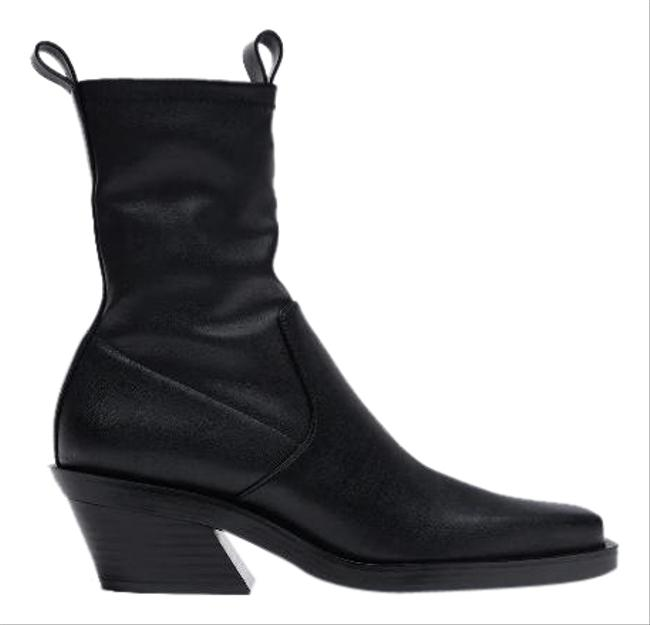 Item - Black Heeled Square Toe Cowboy Ankle 1137/610 Boots/Booties Size US 6.5 Regular (M, B)