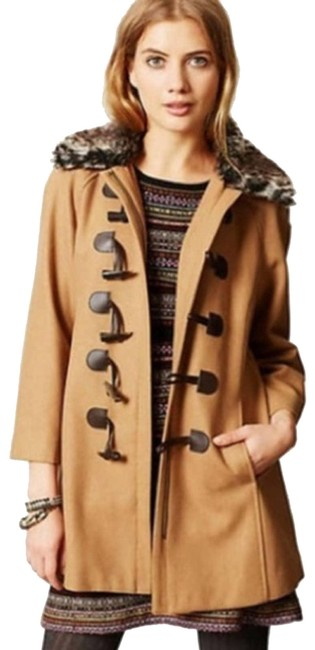 Item - Brown Elevenses Melton Wool Peacoat. Activewear Outerwear Size 6 (S)