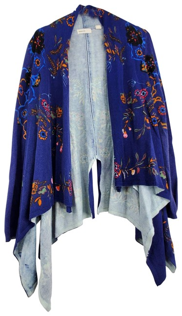 Item - Blue Sleeping On Snow Open Front Waterfall Sweater Cardigan Size 4 (S)