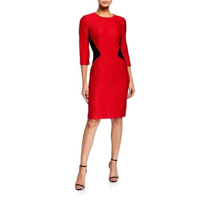 Item - Red Collection Mauresque Knit Mid-length Work/Office Dress Size 2 (XS)