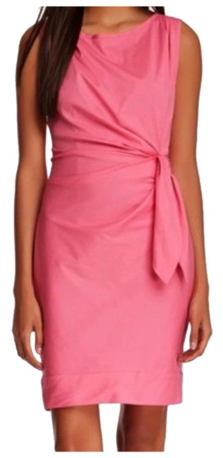 Item - Pink Dvf Della Tie Stretch Short Casual Dress Size 4 (S)