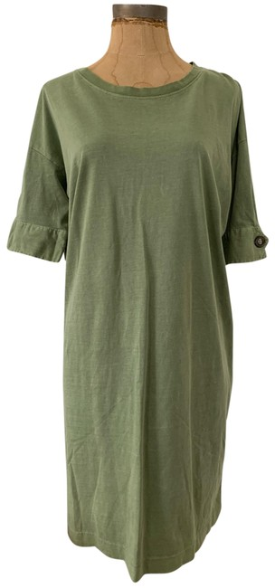 Item - Green With Button Detail Short Casual Maxi Dress Size 4 (S)