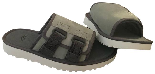 Item - Grey Logo Sandals Size US 10 Regular (M, B)
