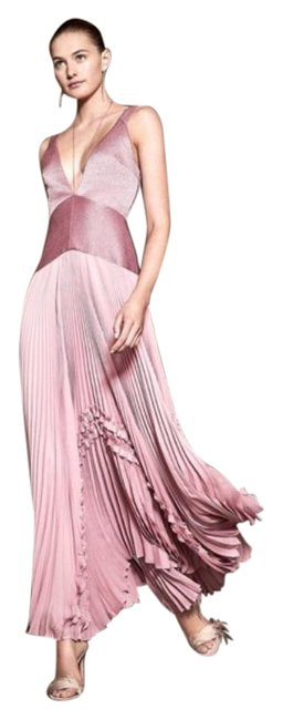 Item - Pink Bellona Pleated Maxi Formal Dress Size 8 (M)