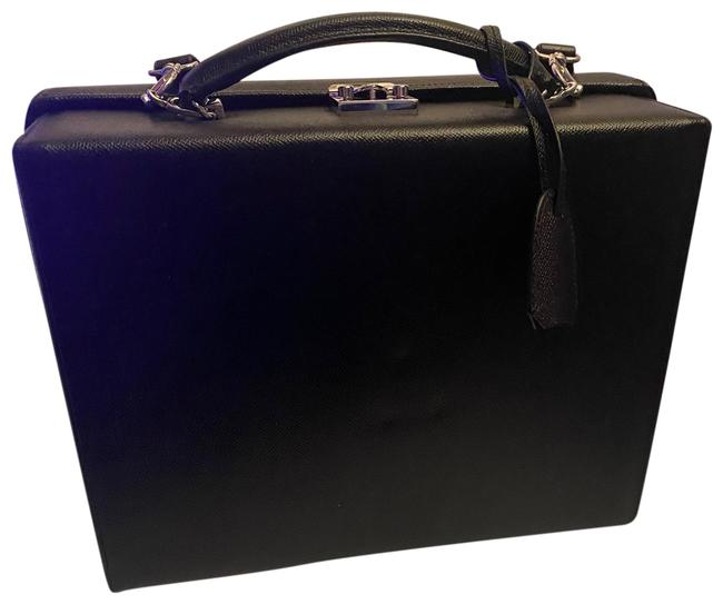 Item - Small Grace Briefcase Black Leather Cross Body Bag