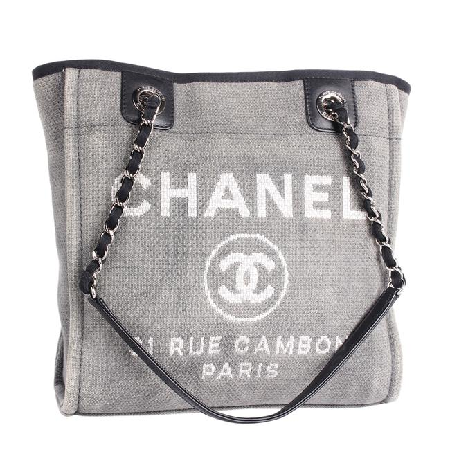 Item - Deauville Bag Small 9481 Grey Canvas Tote
