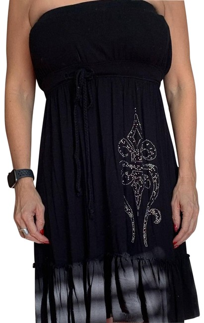 Item - Black Strapless Short Casual Dress Size 8 (M)