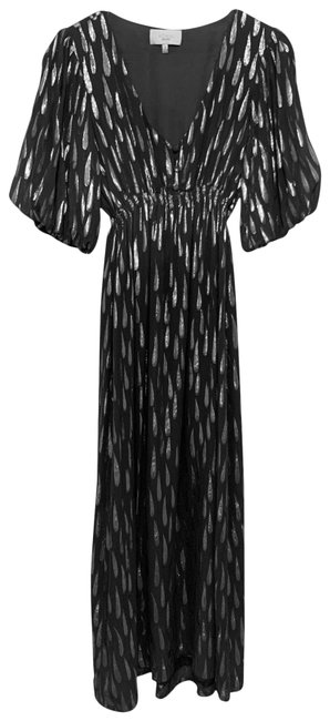 Item - Gray/Silver Long Night Out Dress Size 6 (S)