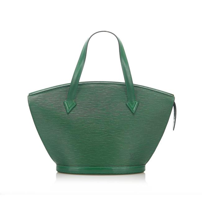 Item - Epi Saint Jacques Pm Short Strap Green Leather Shoulder Bag