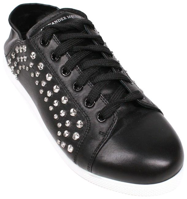 Alexander McQueen Black New: Studded Mules - Leather - Sneakers Size EU 37 (Approx. US 7) Regular (M, B) Alexander McQueen Black New: Studded Mules - Leather - Sneakers Size EU 37 (Approx. US 7) Regular (M, B) Image 1