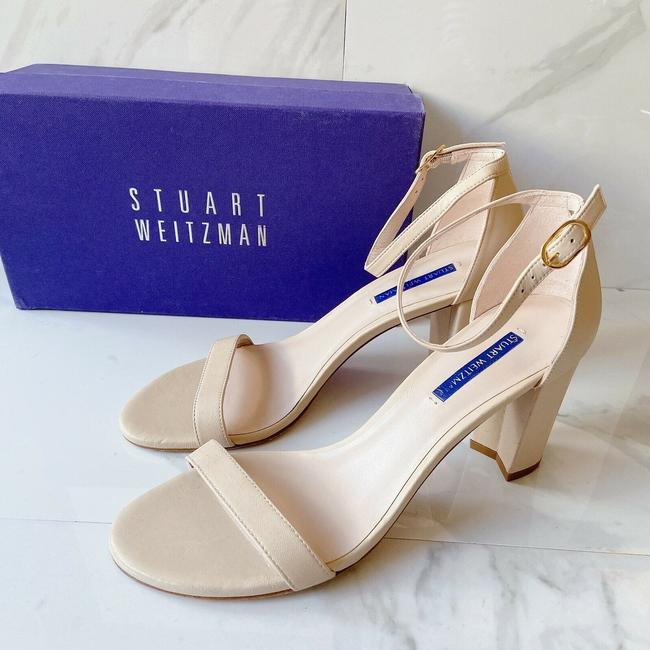 Item - Nude Leather Nearlynude Heel Ankle Strap Sandals Size US 10 Regular (M, B)