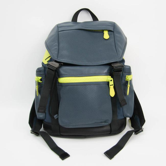Item - Perforated Taylor Trek F20467 Men's Black / Gray Navy / Yellow Leather / Canvas / Leather Backpack