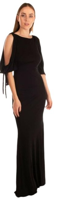 Item - Black Cold Shoulder Sleeve Open Gown Trumpet Gown Long Formal Dress Size 4 (S)