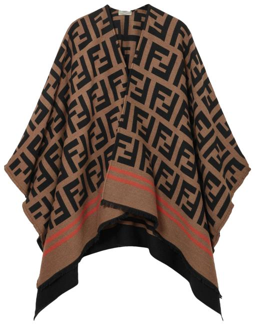 Item - Camel Logo Frayed Wool and Silk-blend Jacquard Poncho/Cape Size OS (one size)
