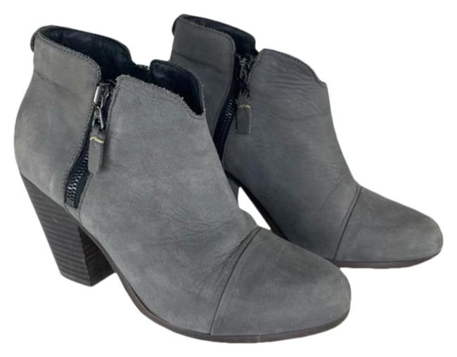 Item - Grey Margot Nubuck Leather Ankle Boots/Booties Size US 7.5 Regular (M, B)