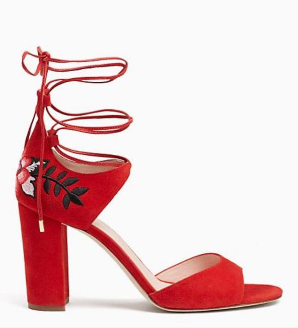 Item - Red Oasis Embroidery Heel Formal Shoes Size US 7 Regular (M, B)