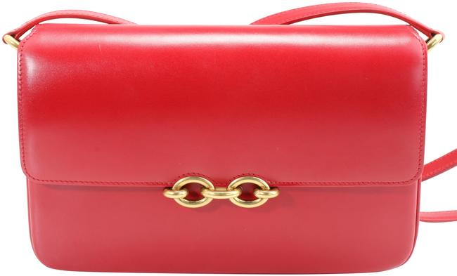 Item - Le Maillon Red Leather Satchel