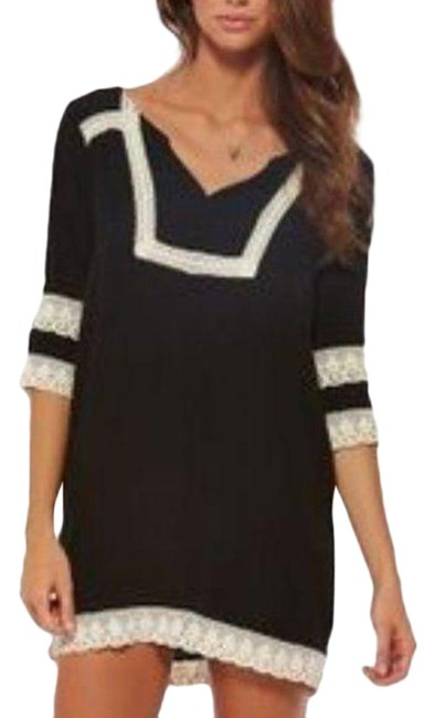 Item - Black Cream L Victoria Dress In Cover-up/Sarong Size 8 (M)
