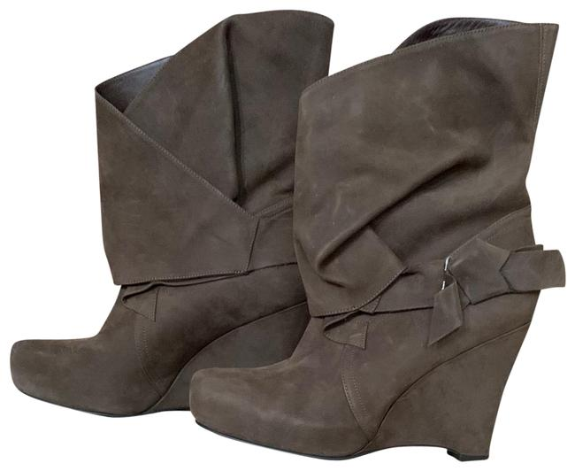 Item - Taupe Lavender Suede High Heel Wedge Boots/Booties Size US 9 Regular (M, B)