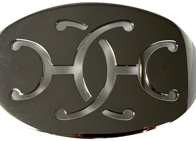 Item - Silver Oval Polished Silver-tone Buckle For 34mm Belt