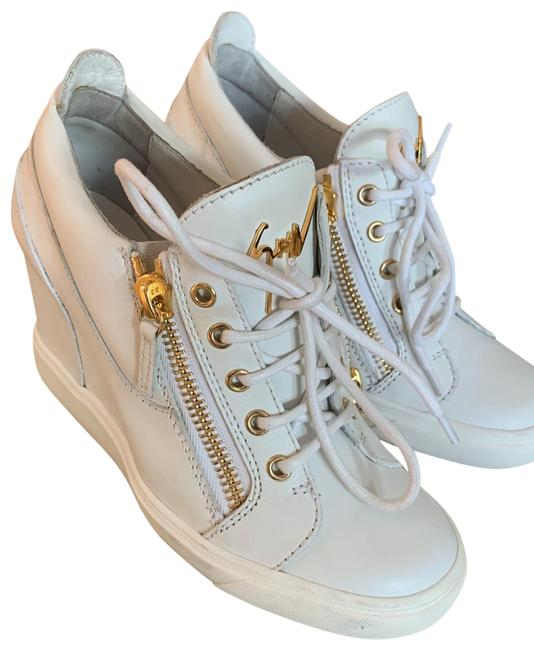 Item - Blanco - White Fashion Sneaker Padded Insole Made In Italy Boots/Booties Size US 8 Regular (M, B)