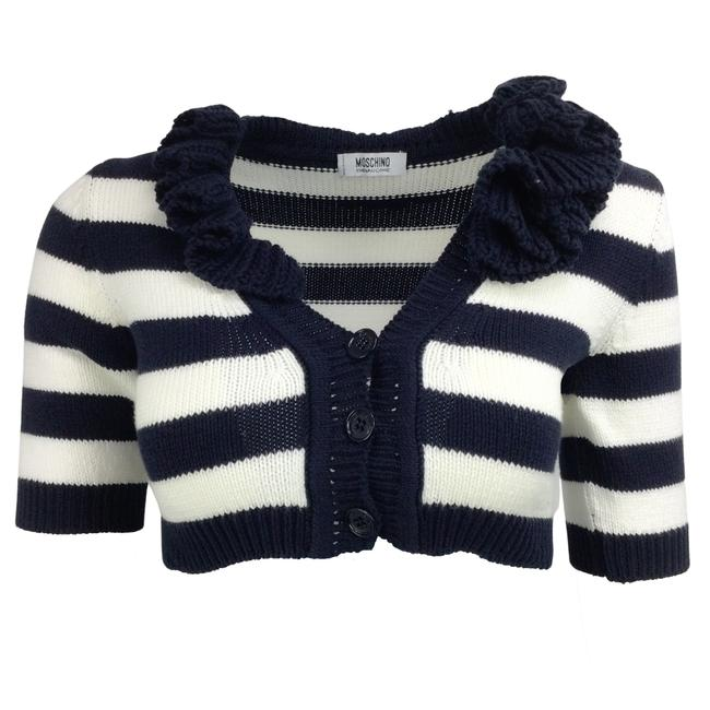 Item - Striped Navy Blue & Ivory Sweater