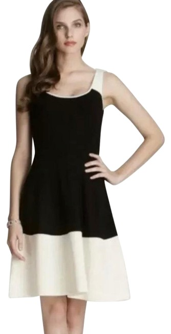 Item - Black and Cream Constance Colorblock Short Casual Dress Size 00 (XXS)