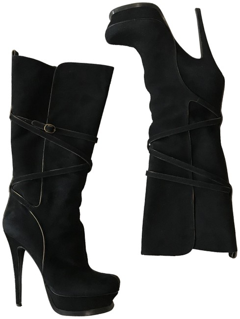 Item - Black Tribute 105 Suede Boots/Booties Size EU 38.5 (Approx. US 8.5) Regular (M, B)