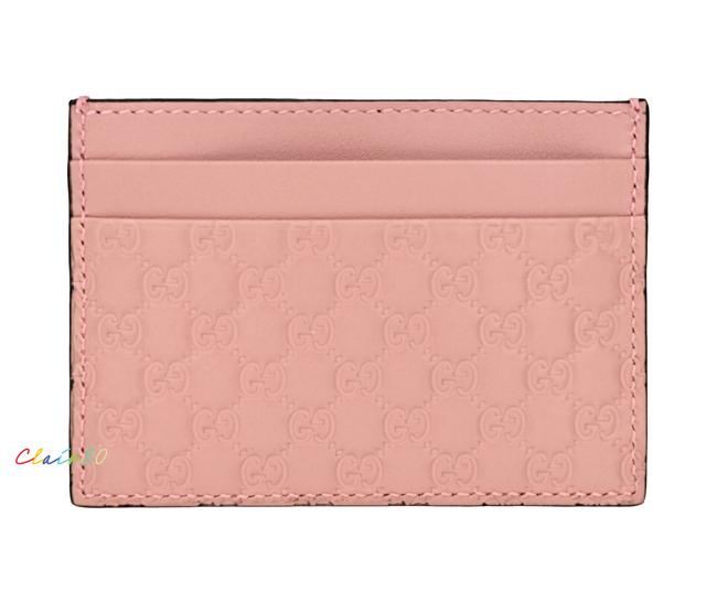 Item - Soft Pink Microguccissima Leather Card Case Wallet