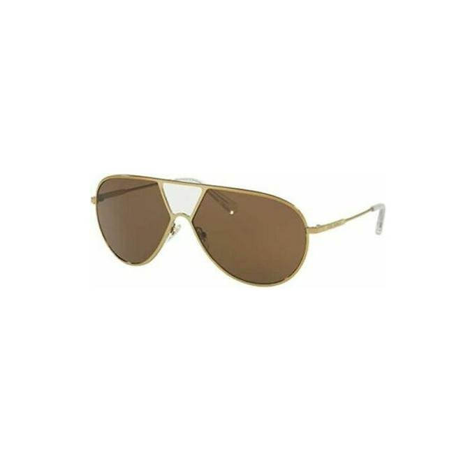Item - Crystal/Gold Frame & Brown Solid Lens Ty6050 318673 Pilot Women's Sunglasses