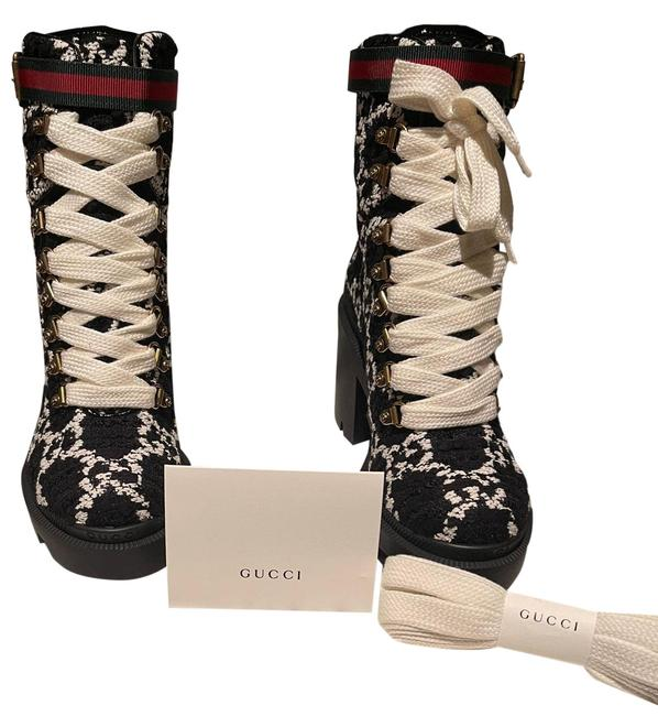 Item - Black/White Trip Boots/Booties Size EU 36.5 (Approx. US 6.5) Regular (M, B)