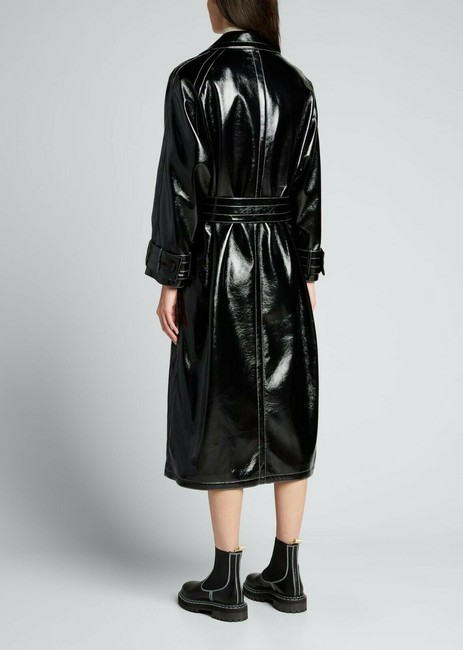 Stand Studio Black Shelby Show Faux-leather Coat Size 8 (M) Stand Studio Black Shelby Show Faux-leather Coat Size 8 (M) Image 2