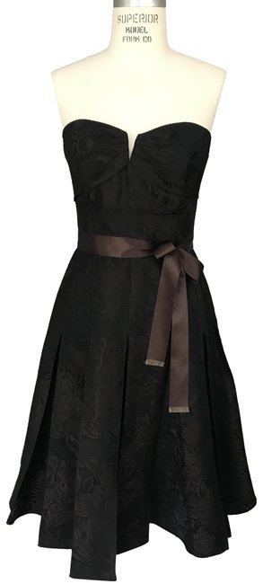 Item - Brown and Black Silk For Neiman Marcus Mid-length Formal Dress Size 8 (M)