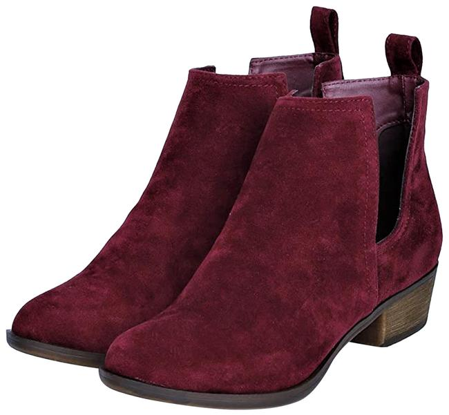 Item - Wine/Burgundy Suede Cut Out Riding Boots/Booties Size US 6 Regular (M, B)