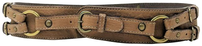 Item - Brown Straps and Buckles Belt