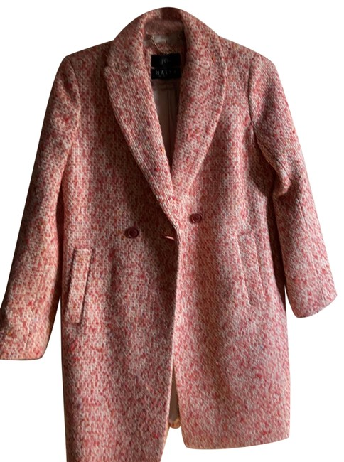 Item - Pink/ Multi Double Breasted Tweed Coat Size 00 (XXS)