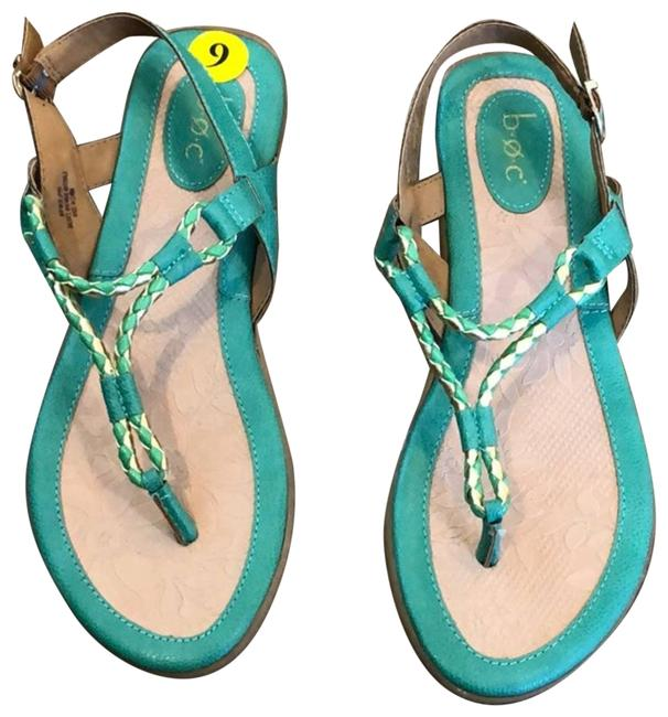 Item - Green Braided Thong Ankle Strap Sandals Size US 9 Regular (M, B)