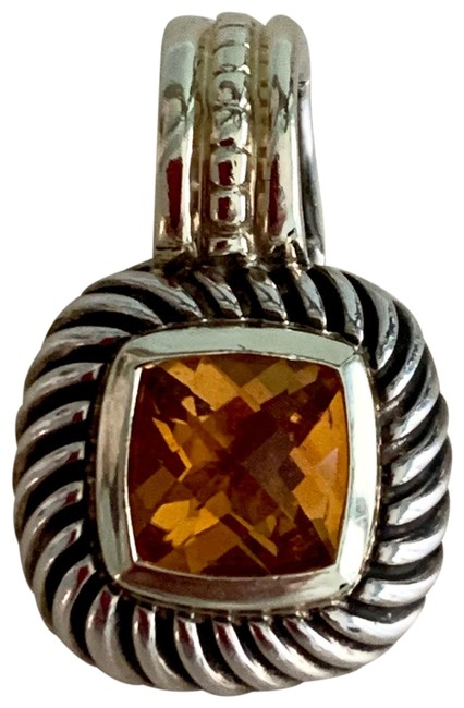 Item - 14k Gold/925 Sterling Silver/Citrine Stone Albion Pendant