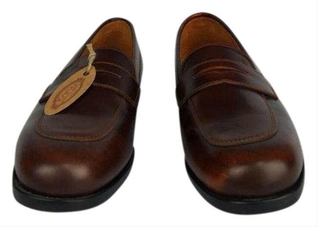 Item - Brown Leather Hand Made Oxford Loafers Flats Size EU 35.5 (Approx. US 5.5) Regular (M, B)