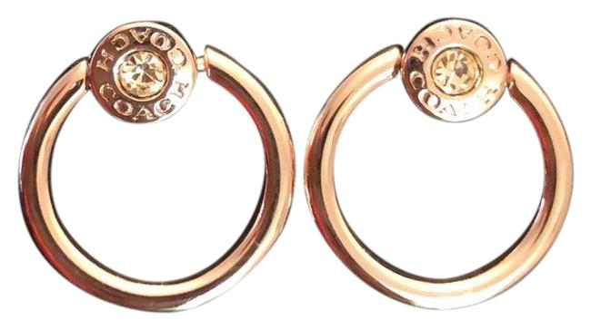 Item - Rose Gold Small Hoop/Moho Post Earrings