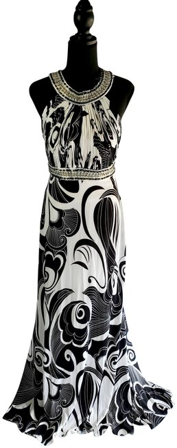 Item - Black and White Evening Long Formal Dress Size 14 (L)