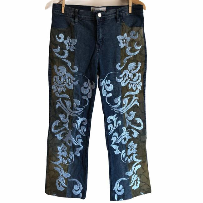 Item - Blue Embroidered Applique Straight Leg Jeans Size 29 (6, M)